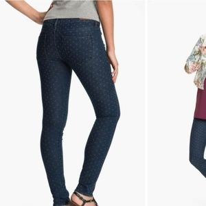 Articles Of Society Polka Dot Skinny Jeans Size 24